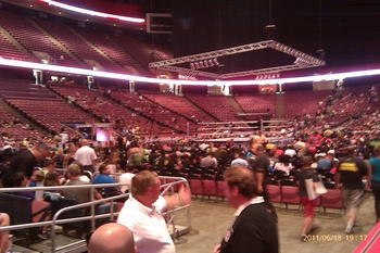 Vantage point from our seats.