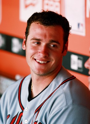 A fresh-faced Saltalamacchia during his rookie season for the Atlanta Braves in 2007.