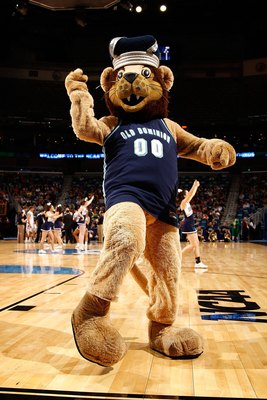 NEW ORLEANS - MARCH 18:  The mascot of the Old Dominion Monarchs performs during the game against the Notre Dame Fighting Irish during the first round of the 2010 NCAA men�s basketball tournament at the New Orleans Arena on March 18, 2010 in New Orleans,