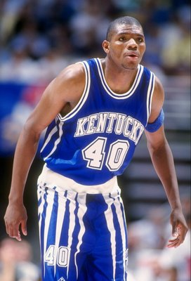3 Dec 1994:  Forward Walter McCarty of the Kentucky Wildcats looks on during a game against the UCLA Bruins.  UCLA won the game, 82-81. Mandatory Credit: Al Bello  /Allsport