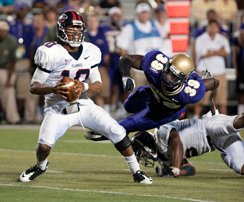 Liberty QB Mike Brown went for over 3800 yards of total offense in 2010