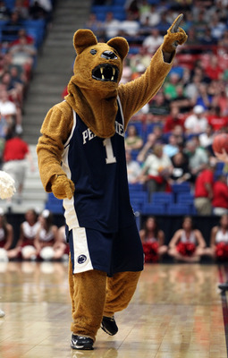 TUCSON, AZ - MARCH 17:  The mascot for the Penn State Nittany Lions performs during their game against the Temple Owls in the second round of the 2011 NCAA men's basketball tournament at McKale Center on March 17, 2011 in Tucson, Arizona.  (Photo by Chris