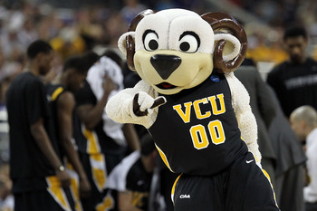 HOUSTON, TX - APRIL 02:  The Virginia Commonwealth Rams mascot performs prior to the National Semifinal game of the 2011 NCAA Division I Men's Basketball Championship at Reliant Stadium on April 2, 2011 in Houston, Texas.  (Photo by Ronald Martinez/Getty