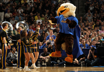 DENVER, CO - MARCH 19:  The Morehead State Eagles mascot performs during the third round of the 2011 NCAA men's basketball tournament at Pepsi Center on March 19, 2011 in Denver, Colorado.  (Photo by Doug Pensinger/Getty Images)