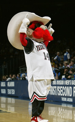 TUCSON, AZ - MARCH 19:  The mascot of the Texas Tech University Red Raiders performs during an intermission in the game against the Gonzaga University Bulldogs during the second round of the NCAA Men's Basketball Championship on March 19, 2005 in McKale C