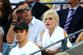 NEW YORK - SEPTEMBER 14:  Singer Gwen Stefani (R) and husband, singer Gavin Rossdale, at the match between Roger Federer of Switzerland and Juan Martin Del Potro of Argentina on day fifteen of the 2009 U.S. Open at the USTA Billie Jean King National Tenni