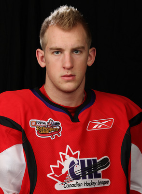 TORONTO, CAN - JANUARY 19:  Joe Morrow #27 of Team Cherry poses for a Head Shot prior to skating in the 2011 Home Hardware Top Prospects game on January 19, 2011 at the Air Canada Centre in Toronto, Canada. (Photo by Claus Andersen/Getty Images)