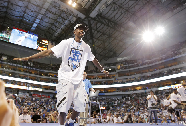 DALLAS, TX - JUNE 16: Guard Jason Terry of the Dallas Mavericks during the Dallas Mavericks Victory celebration on June 16, 2011 in Dallas, Texas. (Photo by Brandon Wade/Getty Images)