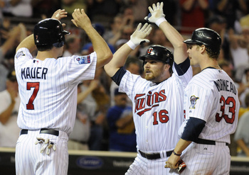How many Home Run celebrations will Mauer have this season?