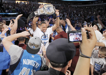 DALLAS, TX - JUNE 16: Forward Shawn Marion of the Dallas Mavericks during the Dallas Mavericks Victory celebration on June 16, 2011 in Dallas, Texas. (Photo by Brandon Wade/Getty Images)