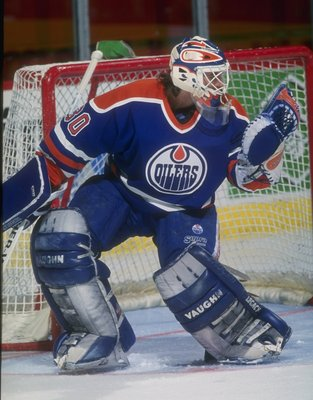 1993-1994:  Goaltender Bill Ranford of the Edmonton Oilers. Mandatory Credit: Robert Laberge  /Allsport