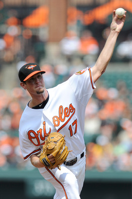 BALTIMORE, MD - JUNE 12:  Brian Matusz #17 the Baltimore Orioles pitches against the Tampa Bay Rays at Oriole Park at Camden Yards on June 12, 2011 in Baltimore, Maryland.  (Photo by Greg Fiume/Getty Images)