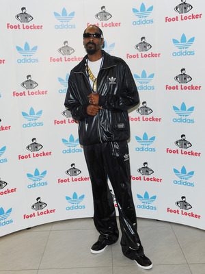 LONDON, ENGLAND - JULY 09:  Snoop Dogg attends a Press conference for adidas at the Footlocker Oxford Street store on July 9, 2010 in London, England.  (Photo by Ian Gavan/Getty Images for adidas)