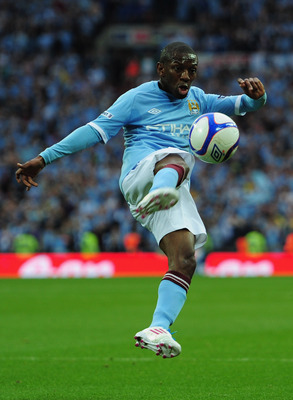 LONDON, ENGLAND - APRIL 16: Shaun Wright-Phillips of Manchester City in action during the FA Cup sponsored by E.ON semi final match between Manchester City and Manchester United at Wembley Stadium on April 16, 2011 in London, England.  (Photo by Jamie McD