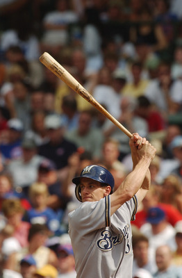 CHICAGO - JULY 16:  Craig Counsell #30 of the Milwaukee Brewers bats during a game against the Chicago Cubs on July 16, 2004 at Wrigley Field in Chicago, Illinois.  The Brewers defeated the Cubs 3-2.  (Photo by Jonathan Daniel/Getty Images)