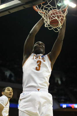 TULSA, OK - MARCH 20:  Jordan Hamilton #3 of the Texas Longhorns dunks the ball against the Arizona Wildcats during the third round of the 2011 NCAA men's basketball tournament at BOK Center on March 20, 2011 in Tulsa, Oklahoma.  (Photo by Ronald Martinez