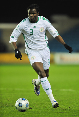 LONDON - FEBRUARY 11:  Taiye Taiwo of Nigeria in action during the International friendly match between Nigeria and Jamaica at the Den on Feruary 11, 2009 in London, England.  (Photo by Mike Hewitt/Getty Images)