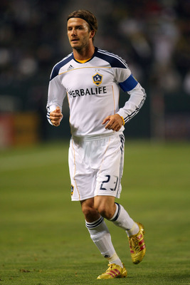 CARSON, CA - JUNE 03:  David Beckham #23 of the Los Angeles Galaxy in action during the MLS match against D.C. United at The Home Depot Center on June 3, 2011 in Carson, California. United and the Galaxy played to a 0-0 draw.  (Photo by Victor Decolongon/
