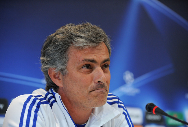 MADRID, SPAIN - APRIL 26:  Head coach of Real Madrid, Jose Mourinho answers a question during a press conference at Valdebebas training ground ahead of their UEFA Champions League semi-final first leg match against Barcelona on April 26, 2011 in Madrid, S