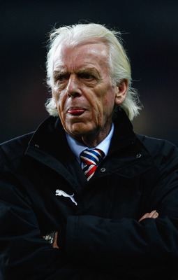 DUBLIN, IRELAND - NOVEMBER 19:  Leo Beenhakker, the coach of Poland looks on prior to the international friendly match between the Republic of Ireland and Poland at Croke Park on November 19, 2008 in Dublin, Ireland.  (Photo by Clive Mason/Getty Images)