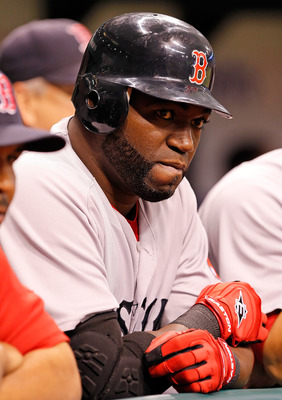 ST. PETERSBURG, FL - JUNE 14:  Designated hitter David Ortiz #34 of the Boston Red Sox waits to bat against the Tampa Bay Rays during the game at Tropicana Field on June 14, 2011 in St. Petersburg, Florida.  (Photo by J. Meric/Getty Images)
