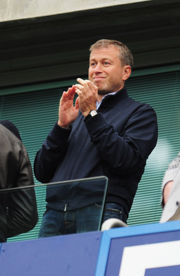 LONDON, ENGLAND - MAY 09:  Chelsea owner Roman Abramovich looks on prior to the Barclays Premier League match between Chelsea and Wigan Athletic at Stamford Bridge on May 9, 2010 in London, England.  (Photo by Shaun Botterill/Getty Images)