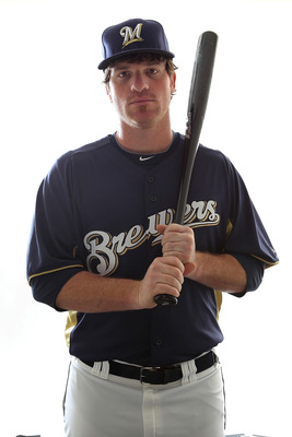 MARYVALE, AZ - FEBRUARY 24:  Mat Gamel #74 of the Milwaukee Brewers poses for a portrait during Spring Training Media Day on February 24, 2011 at Maryvale Stadium in Maryvale, Arizona.  (Photo by Jonathan Ferrey/Getty Images)