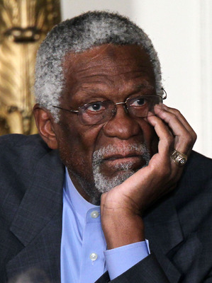 WASHINGTON, DC - FEBRUARY 15: Former Boston Celtics captain Bill Russell listens during the 2010 Medal of Freedom presentation ceremony at the East Room of the White House February 15, 2011 in Washington, DC. Obama presented the medal, the highest honor a