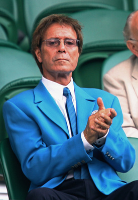 WIMBLEDON, ENGLAND - JUNE 27:  Singer Sir Cliff Richard watches the play on Centre Court on Day Six of the Wimbledon Lawn Tennis Championships at the All England Lawn Tennis and Croquet Club on June 27, 2009 in London, England.  (Photo by Paul Gilham/Gett