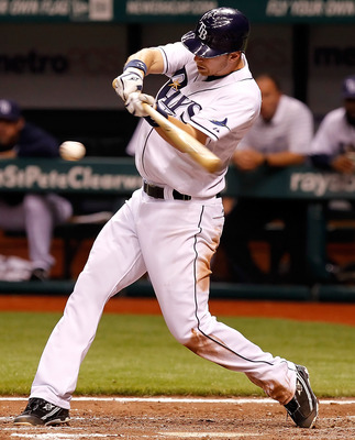ST. PETERSBURG, FL - APRIL 21:  Infielder Ben Zobrist #18 of the Tampa Bay Rays bats against the Chicago White Sox during the game at Tropicana Field on April 21, 2011 in St. Petersburg, Florida.  (Photo by J. Meric/Getty Images)