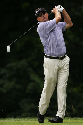 BETHESDA, MD - JUNE 18:  Brandt Jobe hits hit tee shot on the 14th hole during the third round of the 111th U.S. Open at Congressional Country Club on June 18, 2011 in Bethesda, Maryland.  (Photo by Andrew Redington/Getty Images)