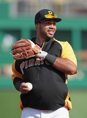 PITTSBURGH, PA - APRIL 14:  Pedro Alvarez #24 of the Pittsburgh Pirates during warmups before the start of their game against the Milwaukee Brewers at PNC Park on April 14, 2011 in Pittsburgh, Pennsylvania.  (Photo by Scott Halleran/Getty Images)