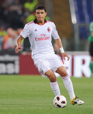 ROME, ITALY - MAY 07:  Thiago Silva of Milan in action during the Serie A match between AS Roma and AC Milan at Stadio Olimpico on May 7, 2011 in Rome, Italy.  (Photo by Giuseppe Bellini/Getty Images)