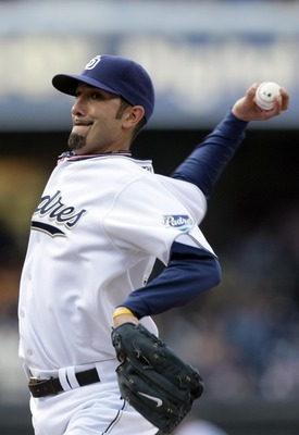 SAN DIEGO, CA - APRIL 5:  Pitcher Mike Adams #37 of the San Diego Padres throws from the mound during the Padres 3-1 win over the San Francisco Giants at Petco Park on April 5, 2011 in San Diego, California. (Photo by Donald Miralle/Getty Images)