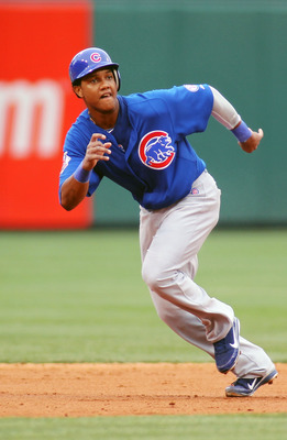 PHILADELPHIA , PA - JUNE 11:  Starlin Castro #13 of the Chicago Cubs runs the bases against the Philadelphia Phillies at Citizens Bank Park on June 11, 2011 in Philadelphia, Pennsylvania.  (Photo by Len Redkoles/Getty Images)