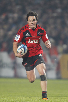 CHRISTCHURCH, NEW ZEALAND - JUNE 11:  Zac Guildford of the Crusaders makes a break during the round 17 Super Rugby match between the Crusaders and the Blues at Alpine Energy Stadium on June 11, 2011 in Christchurch, New Zealand.  (Photo by Martin Hunter/G
