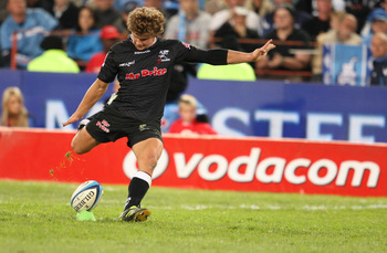 PRETORIA, SOUTH AFRICA - JUNE 18: Patrick Lambie during the Super Rugby match between Vodacom Bulls and the Sharks from Loftus Versfeld on June 18, 2011 in Pretoria, South Africa. (Photo by Steve Haag/Gallo Images/Getty Images)