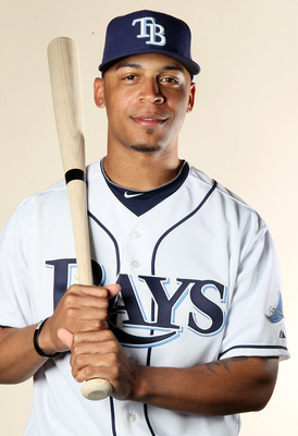 FT. MYERS, FL - FEBRUARY 22:  Desmond Jennings #8 of the Tampa Bay Rays poses for a portrait during the Tampa Bay Rays Photo Day on February 22, 2011 at the Charlotte Sports Complex in Port Charlotte, Florida.  (Photo by Elsa/Getty Images)