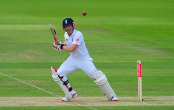 SOUTHAMPTON, ENGLAND - JUNE 19:  England batsman Eoin Morgan in action during day four of the 3rd npower test match between England and Sri Lanka on June 19, 2011 in Southampton, England.  (Photo by Stu Forster/Getty Images)
