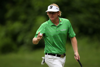 BETHESDA, MD - JUNE 18:  Brandt Snedeker waves to the gallery on the 13th green during the third round of the 111th U.S. Open at Congressional Country Club on June 18, 2011 in Bethesda, Maryland.  (Photo by Andrew Redington/Getty Images)