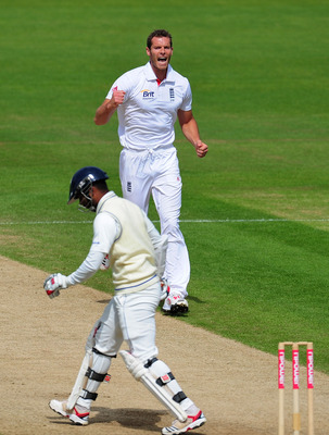 CARDIFF, WALES - MAY 30:  England bowler Chris Tremlett celebrates after taking the wicket of Sri Lanka batsman Tharanga Paranavitana during day five of the 1st npower test match between England and Sri Lanka at the Swalec Stadium on May 30, 2011 in Cardi