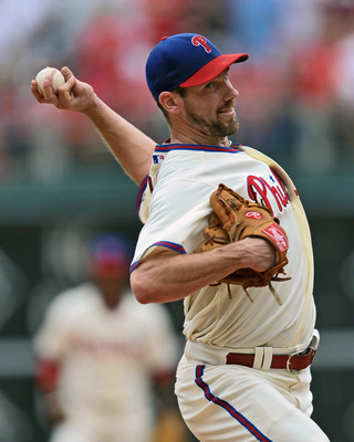 PHILADELPHIA, PA - JUNE 16: Starting pitcher Cliff Lee #33 of the Philadelphia Phillies delivers the final pitch during the game against the Florida Marlins at Citizens Bank Park on June 16, 2011 in Philadelphia, Pennsylvania. The Phillies won 3-0. (Photo