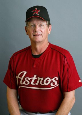 KISSIMMEE, FL - FEBRUARY 25:  Pitching Coach Burt Hooton of the Houston Astros poses during Media Day on February 25, 2003 at Osceola County Stadium in Kissimmee, Florida. (Photo by Rick Stewart/Getty Images)