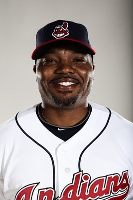GOODYEAR, AZ - FEBRUARY 28:  (EDITORS NOTE: This images was digitally desaturated.) Hitting coach Jon Nunnally #44 poses for a portrait during the Cleveland Indians Photo Day at the training complex at Goodyear Stadium on February 28, 2010 in Goodyear, Ar