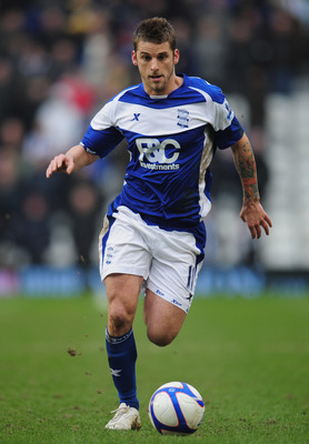 BIRMINGHAM, ENGLAND - FEBRUARY 19:  David Bentley of Birmingham City in action during the FA Cup Sponsored by e.on 5th Round match between Birmingham City and Sheffield Wednesday at St Andrews on February 19, 2011 in Birmingham, England.  (Photo by Shaun