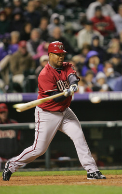 DENVER - APRIL 3:  Livan Hernandez #61 of the Arizona Diamondbacks bats against the Colorado Rockies at Coors Field on April 3, 2007 in Denver, Colorado. The Rockies defeated the Diamondbacks 4-3 in 11 innings. (Photo by Doug Pensinger/Getty Images)