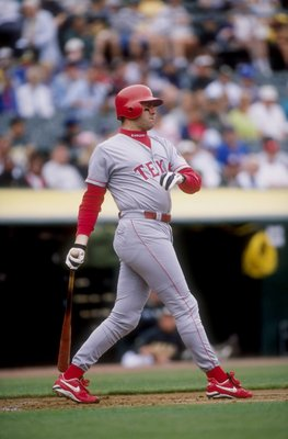9 Jul 1998: Infielder Will Clark #22 of the Texas Rangers in action during a game against the Oakland Athletics at the Oakland Coliseum in Oakland, California. The Rangers defeated the Athletics 4-1.