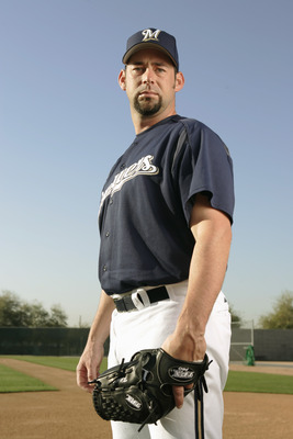 PHOENIX, AZ - MARCH 1:  Brooks Kieschnick of the Milwaukee Brewers poses for a portrait during Brewers Photo Day at Maryvale Baseball Park on March 1, 2005 in Phoenix, Arizona.  (Photo by Brian Bahr/Getty Images)