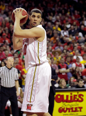 COLLEGE PARK, MD - FEBRUARY 20: Jordan Williams #20 of the Maryland Terrapins against the NC State Wolfpack at the Comcast Center on February 20, 2011 in College Park, Maryland.  (Photo by Rob Carr/Getty Images)