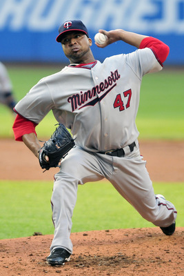 CLEVELAND, OH - JUNE 7: Francisco Liriano #47 of the Minnesota Twins pitches during the first inning against the Cleveland Indians at Progressive Field on June 7, 2011 in Cleveland, Ohio. (Photo by Jason Miller/Getty Images)